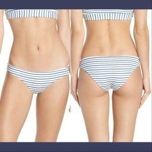 NWD $79 L Space Sandy Stripe Bikini Bottoms blue